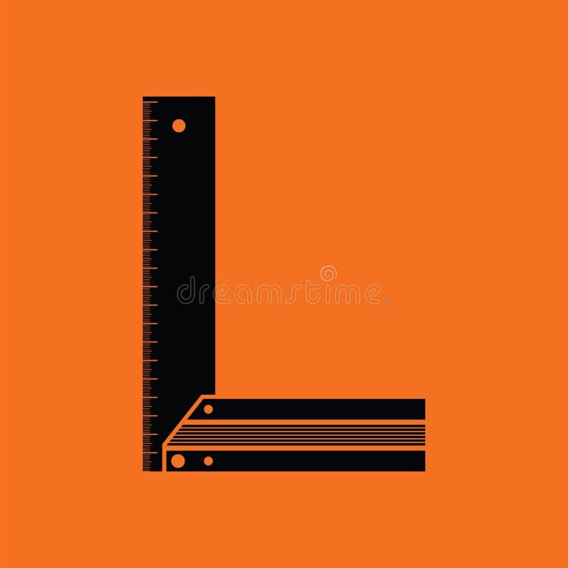 Icono del cartabón stock de ilustración