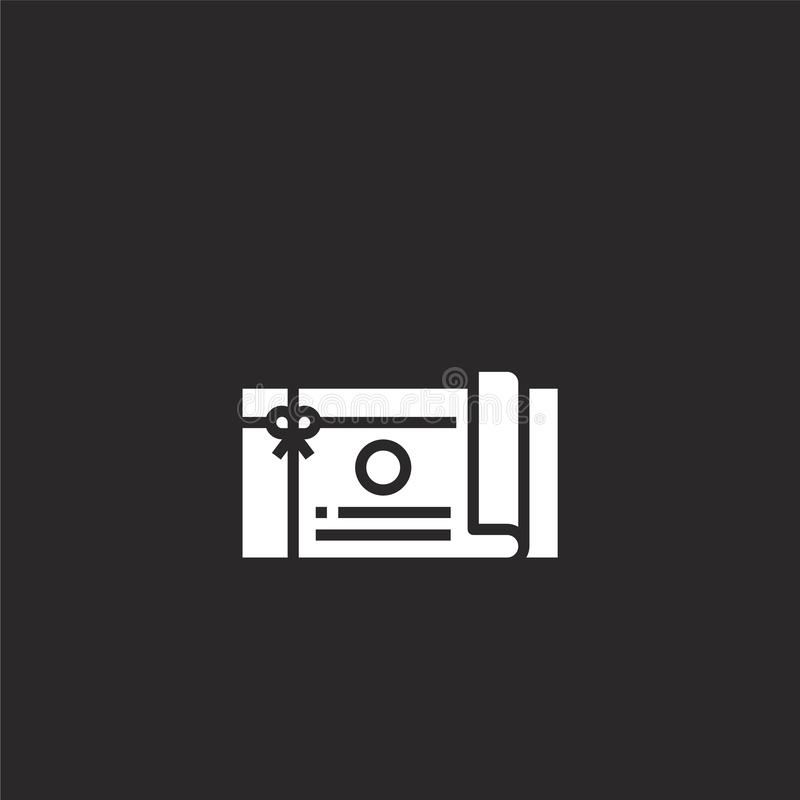 Icono del carte cadeaux Icono llenado de la tarjeta de regalo para el diseño y el móvil, desarrollo de la página web del app icon libre illustration