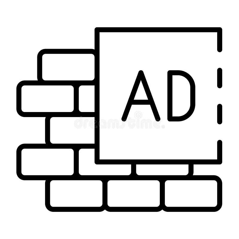 Icono del cartel de la pared del anuncio, estilo del esquema libre illustration