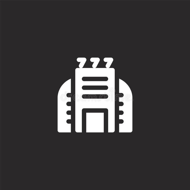 Icono del casino Icono llenado del casino para el diseño y el móvil, desarrollo de la página web del app icono del casino de la c ilustración del vector