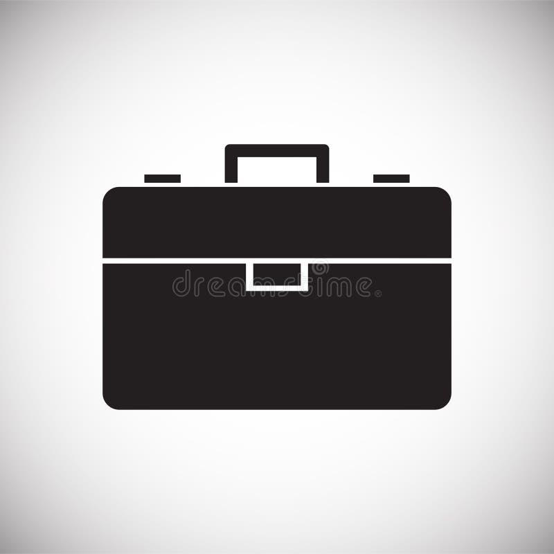 Icono del caso del negocio en el fondo blanco para el gráfico y el diseño web, muestra simple moderna del vector Concepto del Int fotos de archivo