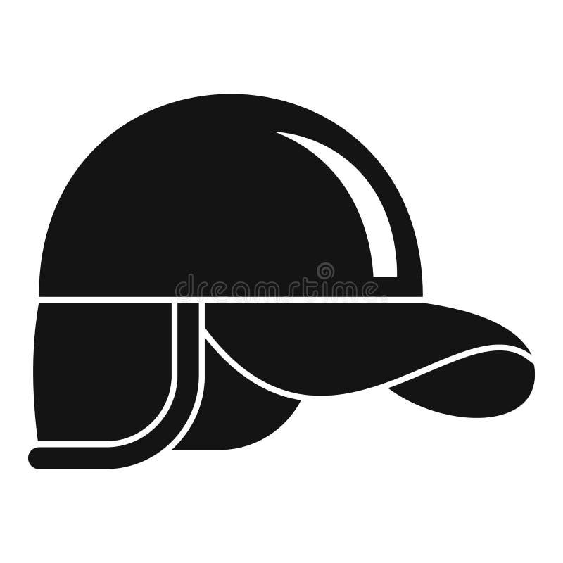 Icono del casquillo del cazador, estilo simple libre illustration