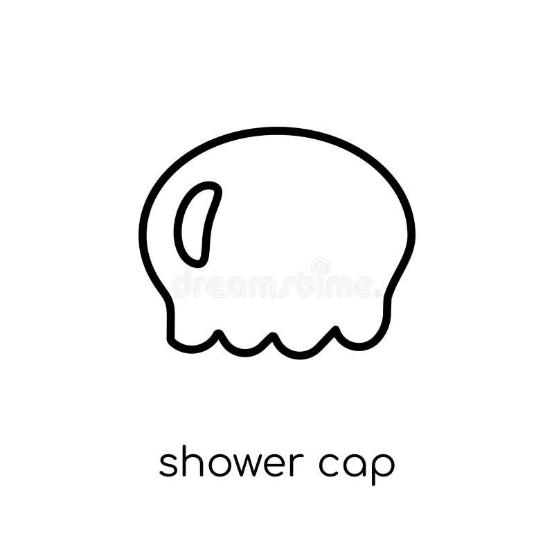 Icono del casquillo de ducha de la colección stock de ilustración