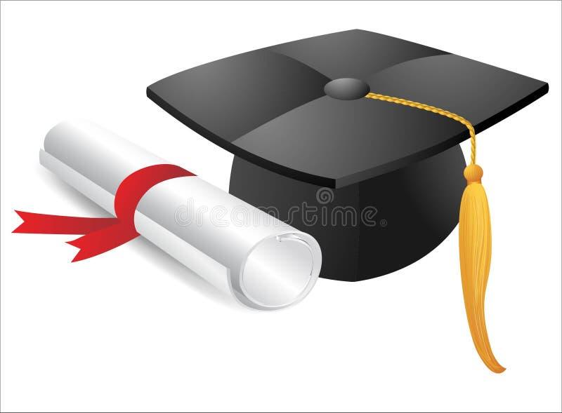 Icono del casquillo de la graduación libre illustration
