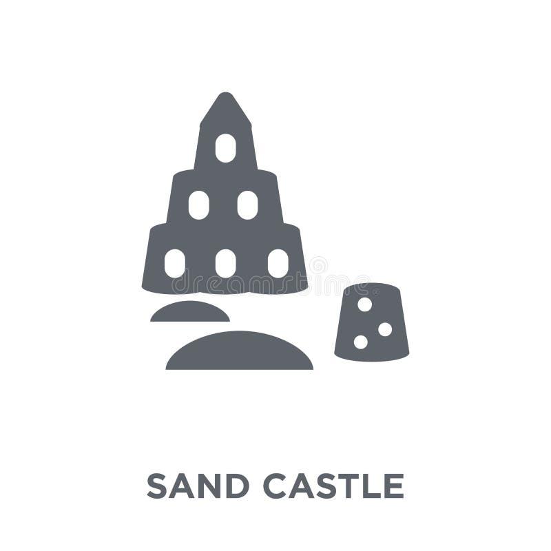 Icono del castillo de la arena de la colección libre illustration
