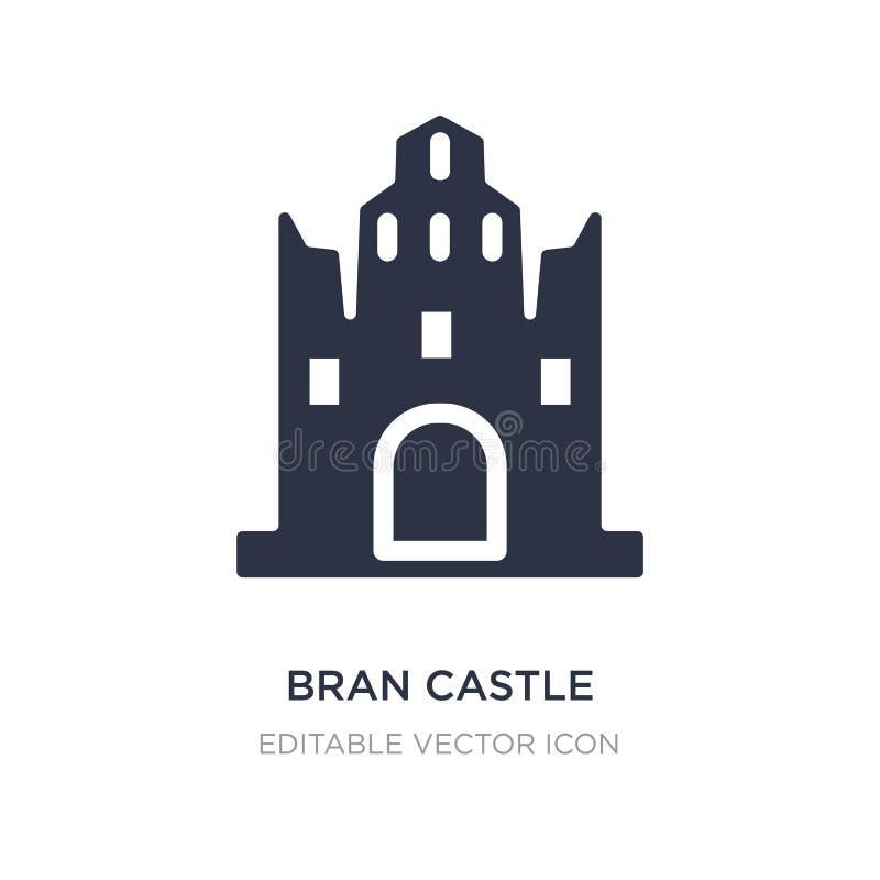 icono del castillo del salvado en el fondo blanco Ejemplo simple del elemento del concepto de los monumentos stock de ilustración