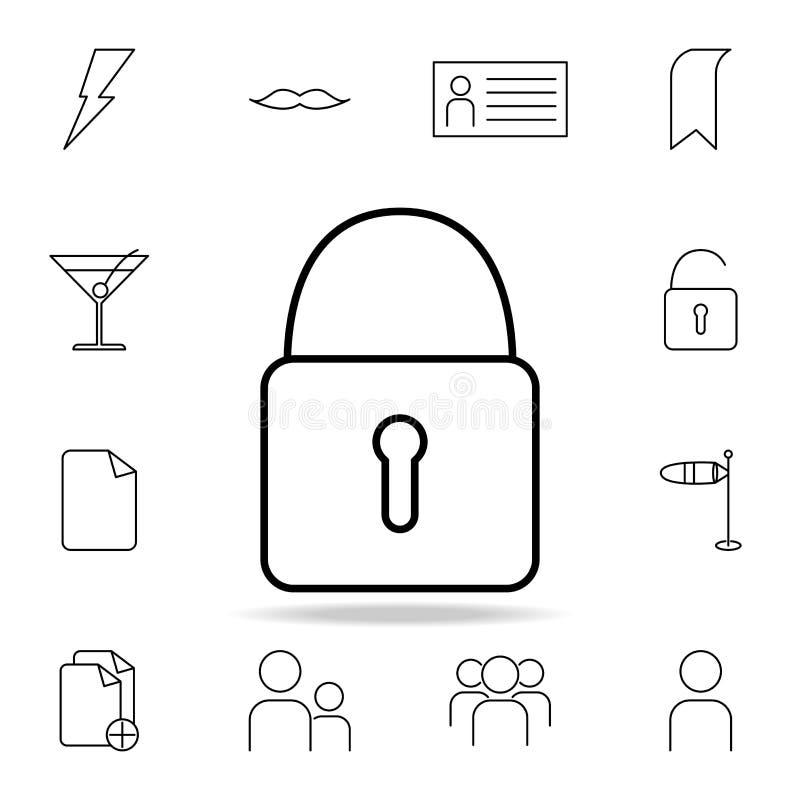 Icono del castillo Sistema detallado de iconos simples Diseño gráfico superior Uno de los iconos de la colección para los sitios  stock de ilustración