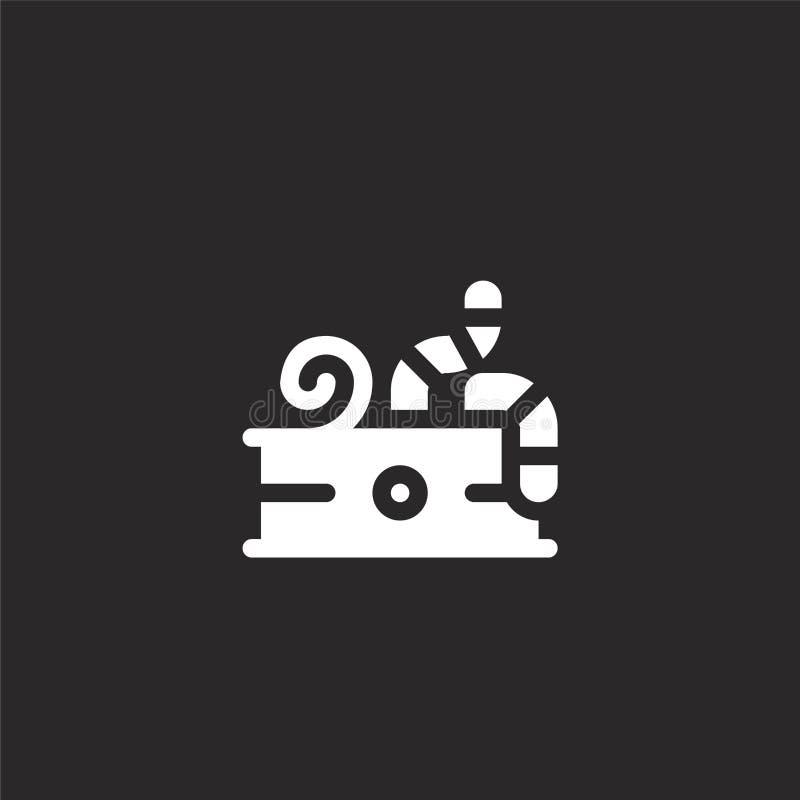 Icono del cebo Icono llenado del cebo para el diseño y el móvil, desarrollo de la página web del app hostigue el icono de la cole ilustración del vector