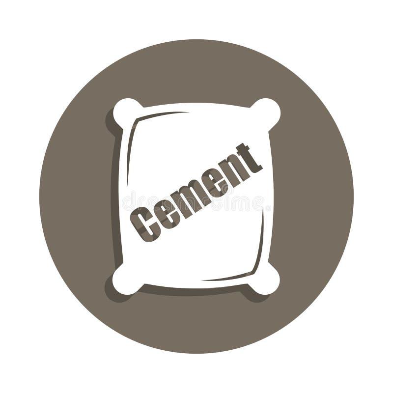 icono del cemento en estilo de la insignia Uno del icono de la colección de los materiales de construcción se puede utilizar para stock de ilustración