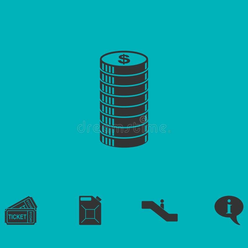 Icono del icono del centavo completamente libre illustration