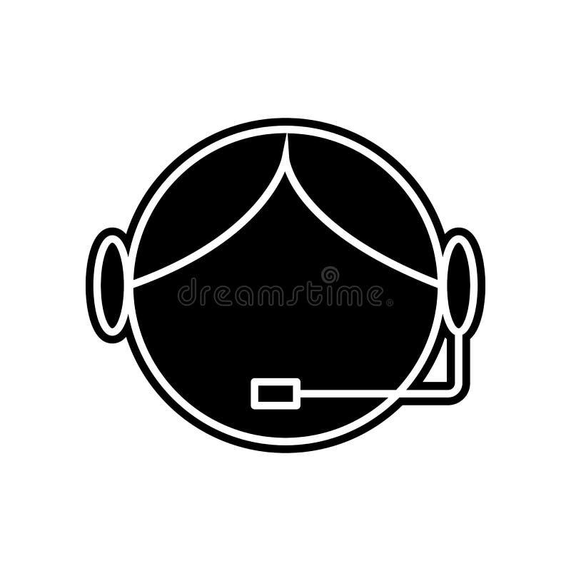 Icono del centro de atención telefónica Elemento de la logística para el concepto y el icono móviles de los apps de la web Glyph, ilustración del vector