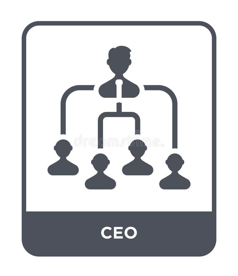 icono del CEO en estilo de moda del diseño icono del CEO aislado en el fondo blanco símbolo plano simple y moderno del icono del  stock de ilustración