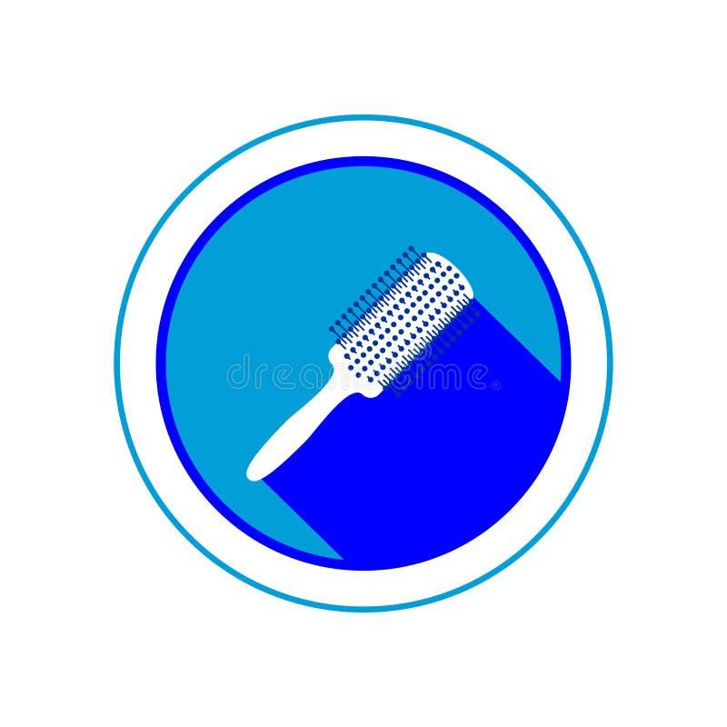 Icono del cepillo para el pelo Ilustración del vector fotos de archivo libres de regalías
