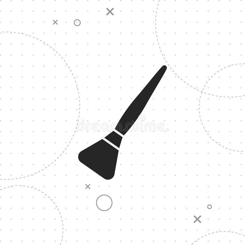 Icono del cepillo del polvo ilustración del vector