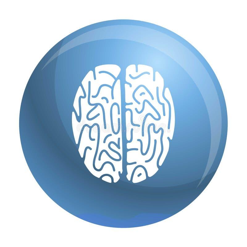Icono del cerebro de la visión superior, estilo simple ilustración del vector