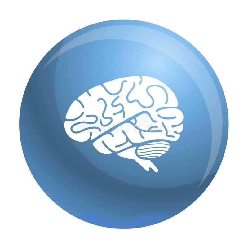 Icono del cerebro, estilo simple ilustración del vector
