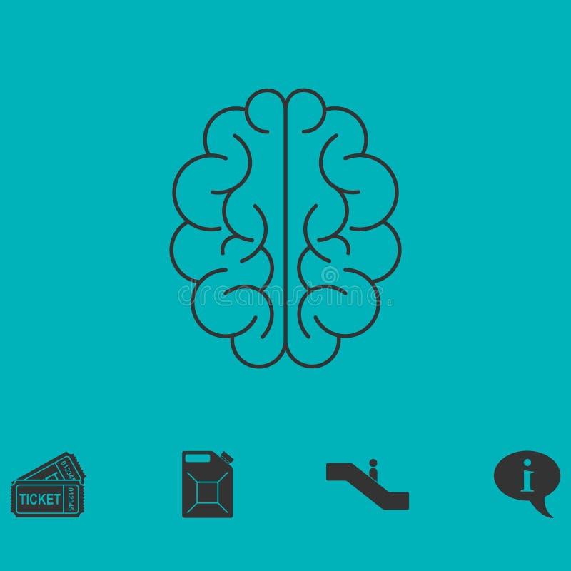 Icono del cerebro plano libre illustration
