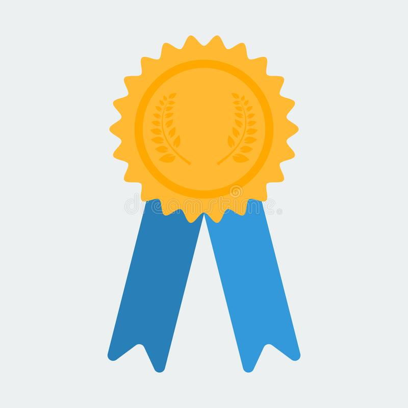 Icono del certificado recompensa Símbolo de la garantía con las cintas stock de ilustración