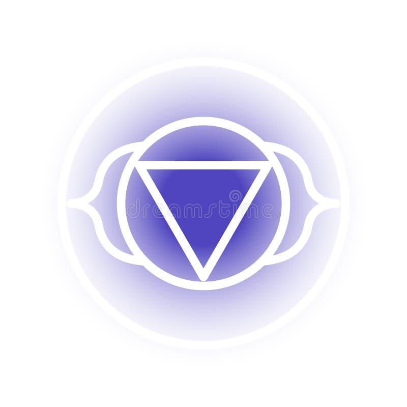 Icono del chakra de Ajna ilustración del vector