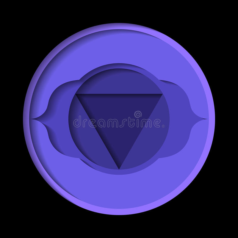 Icono del chakra de Ajna libre illustration