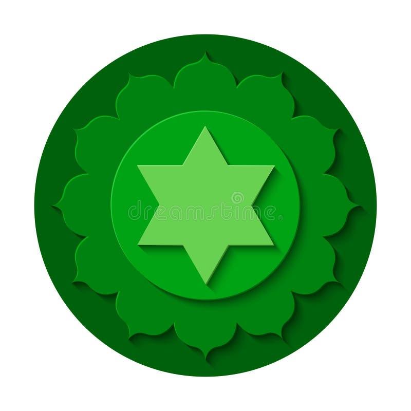 Icono del chakra de Anahata ilustración del vector