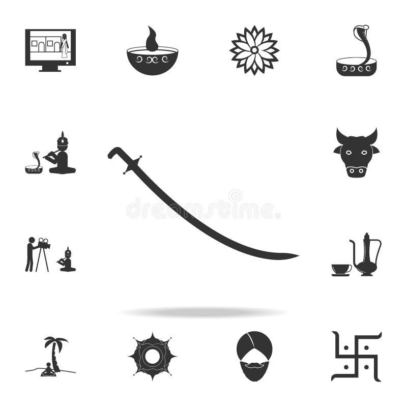 icono del chakra Sistema detallado de iconos indios de la cultura Diseño gráfico de la calidad superior Uno de los iconos de la c stock de ilustración