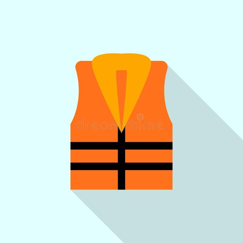 Icono del chaleco del rescate, estilo plano libre illustration