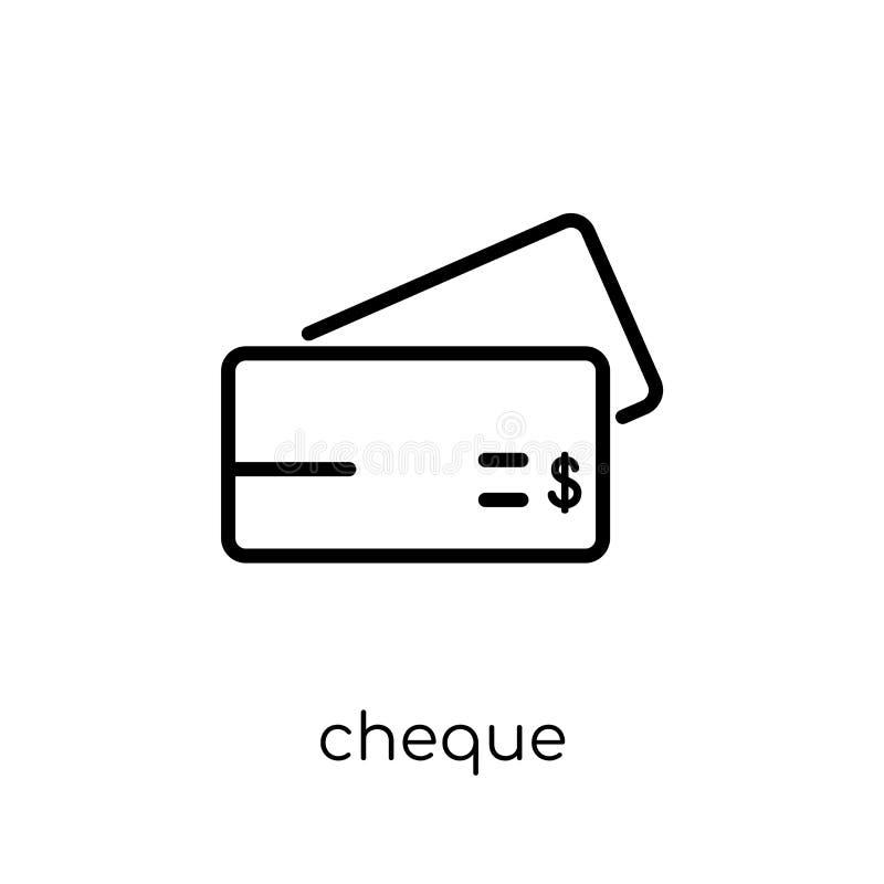 Icono del cheque de la colección ilustración del vector