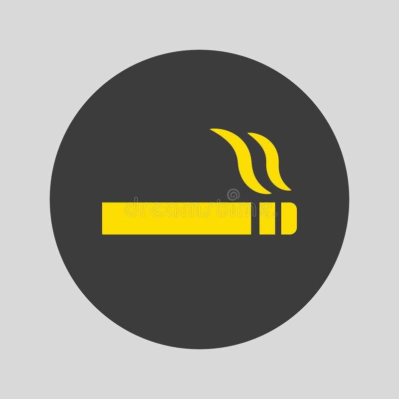 Icono del cigarrillo en fondo gris ilustración del vector