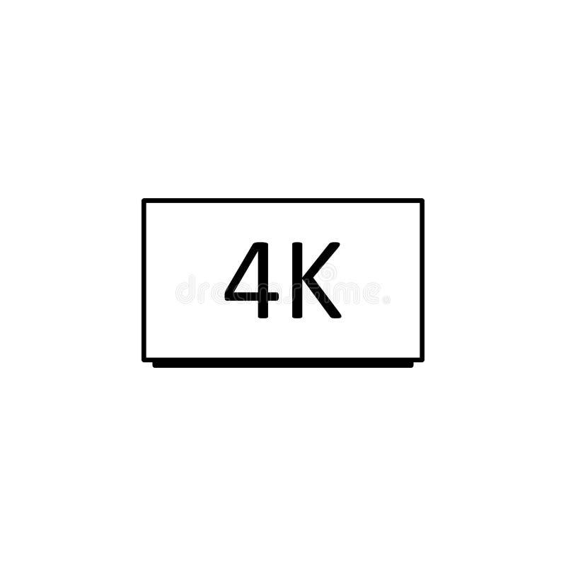 icono del cine 4k Elemento del icono del cine Icono superior del diseño gráfico de la calidad Muestras e icono para los sitios we ilustración del vector