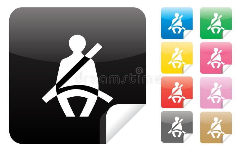 Download Icono Del Cinturón De Seguridad Ilustración del Vector - Ilustración de correa, metal: 17485750