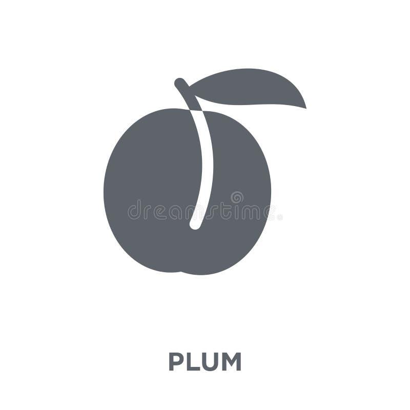 Icono del ciruelo de la colección de la fruta y verdura libre illustration