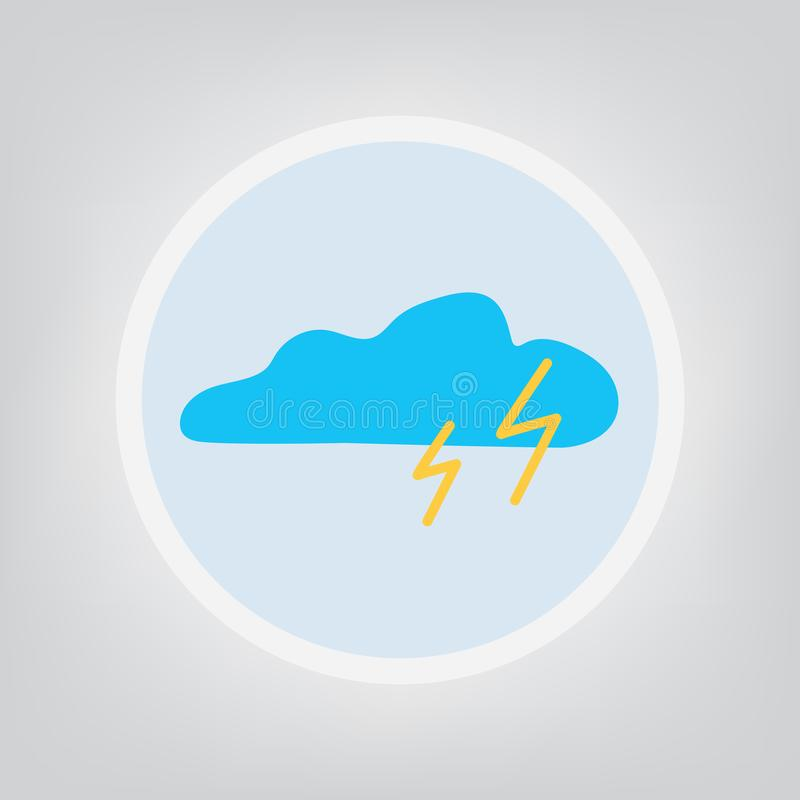 Icono del clima tempestuoso ilustración del vector