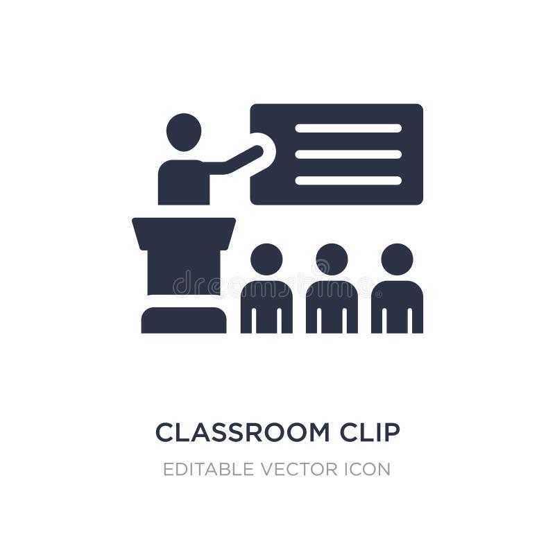 icono del clip de la sala de clase en el fondo blanco Ejemplo simple del elemento del concepto general libre illustration