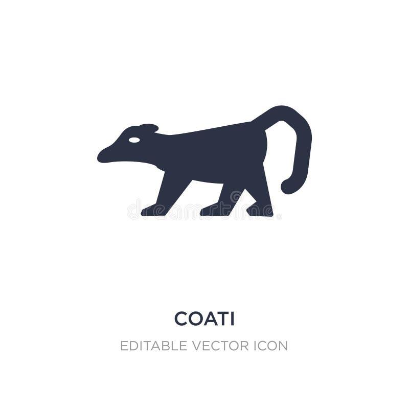 icono del coati en el fondo blanco Ejemplo simple del elemento del concepto de los animales ilustración del vector