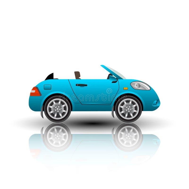 Icono del coche de Cabrio aislado stock de ilustración