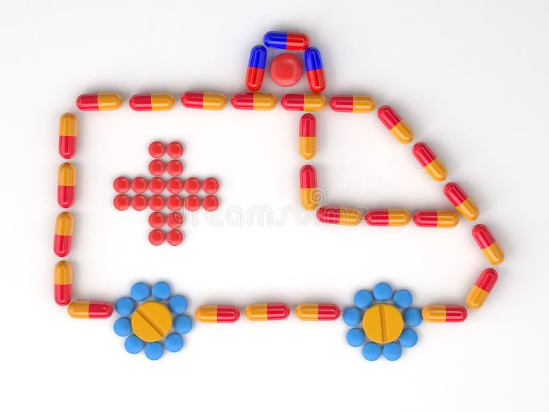 Icono del coche de la emergencia foto de archivo libre de regalías