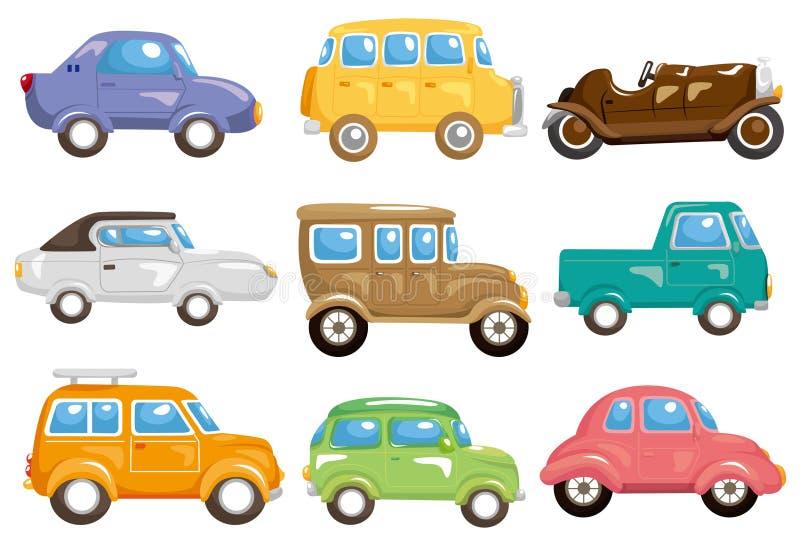 Icono del coche de la historieta ilustración del vector