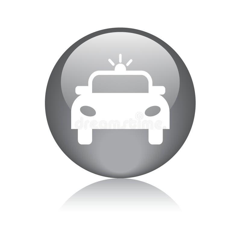Icono del coche de la sirena de policía ilustración del vector