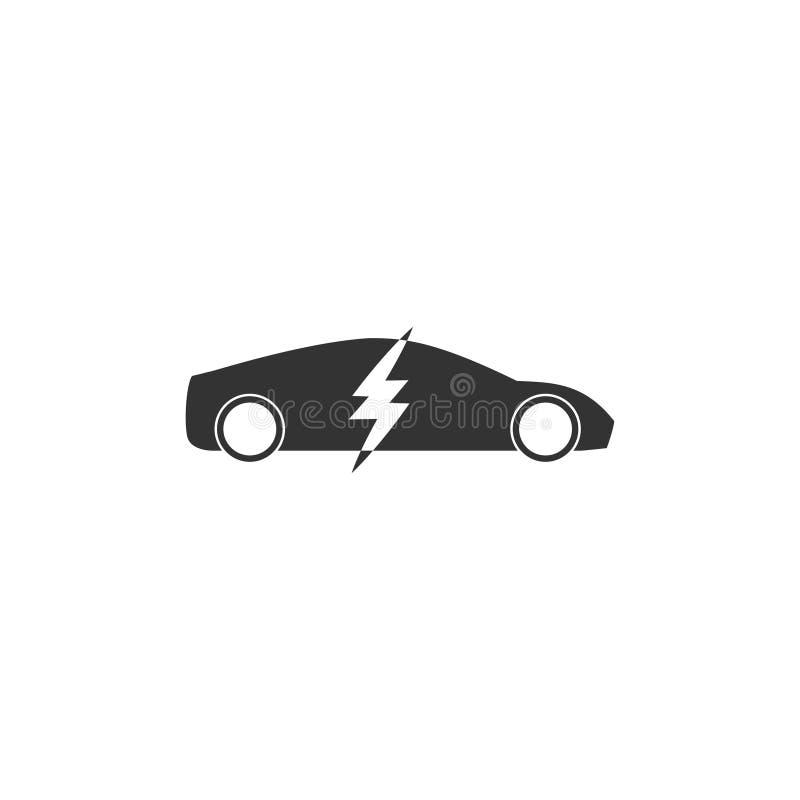 Icono del coche eléctrico en diseño simple Ilustración del vector stock de ilustración