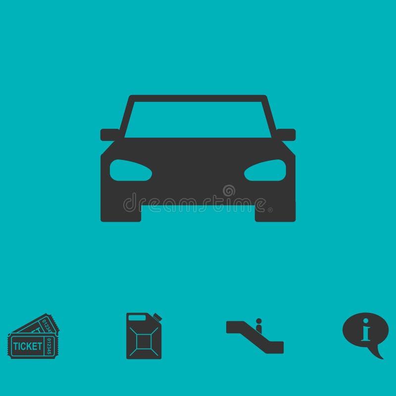 Icono del coche plano stock de ilustración
