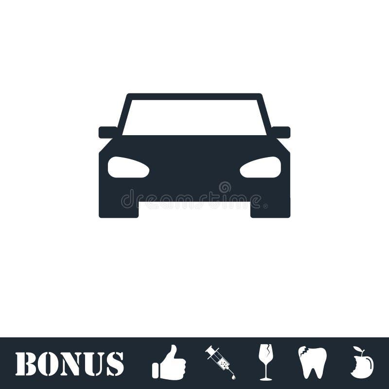 Icono del coche plano ilustración del vector