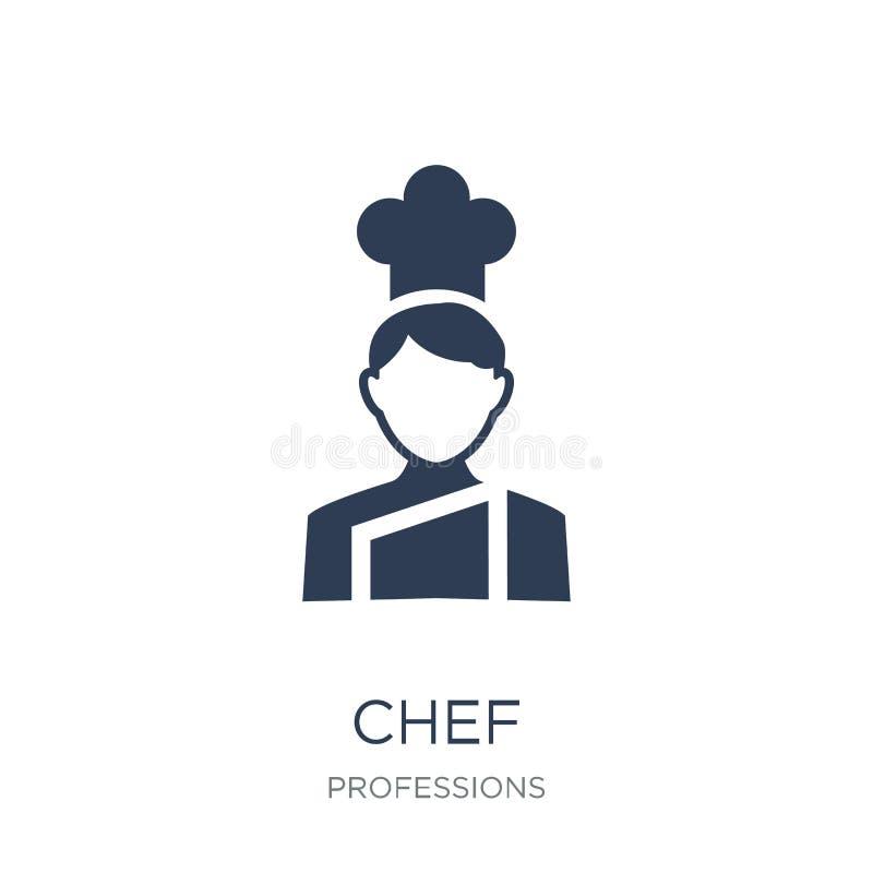 Icono del cocinero Icono plano de moda del cocinero del vector en el fondo blanco de ilustración del vector