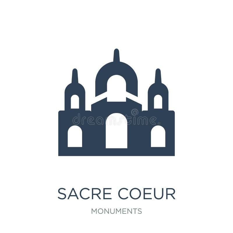 icono del coeur del sacre en estilo de moda del diseño icono del coeur del sacre aislado en el fondo blanco icono del vector del  stock de ilustración