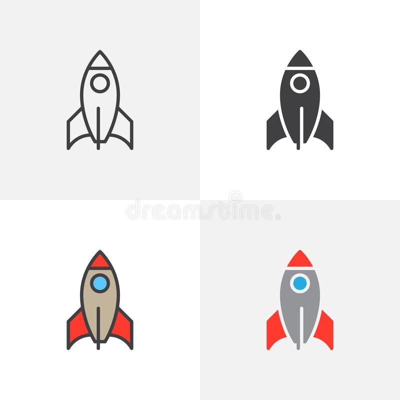 Icono del cohete de la nave espacial libre illustration