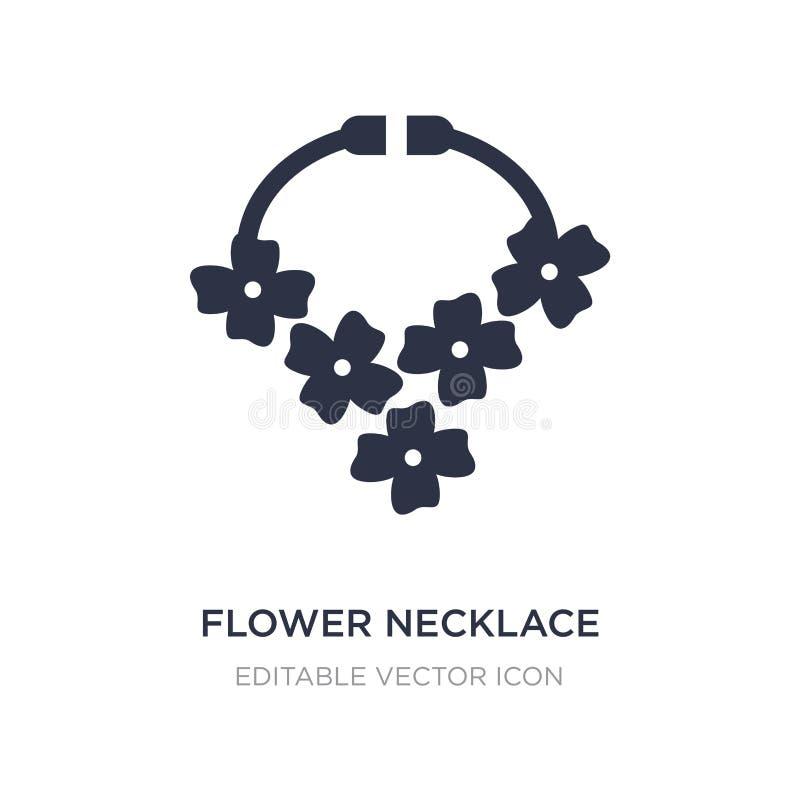 icono del collar de la flor en el fondo blanco Ejemplo simple del elemento del concepto de los días de fiesta ilustración del vector