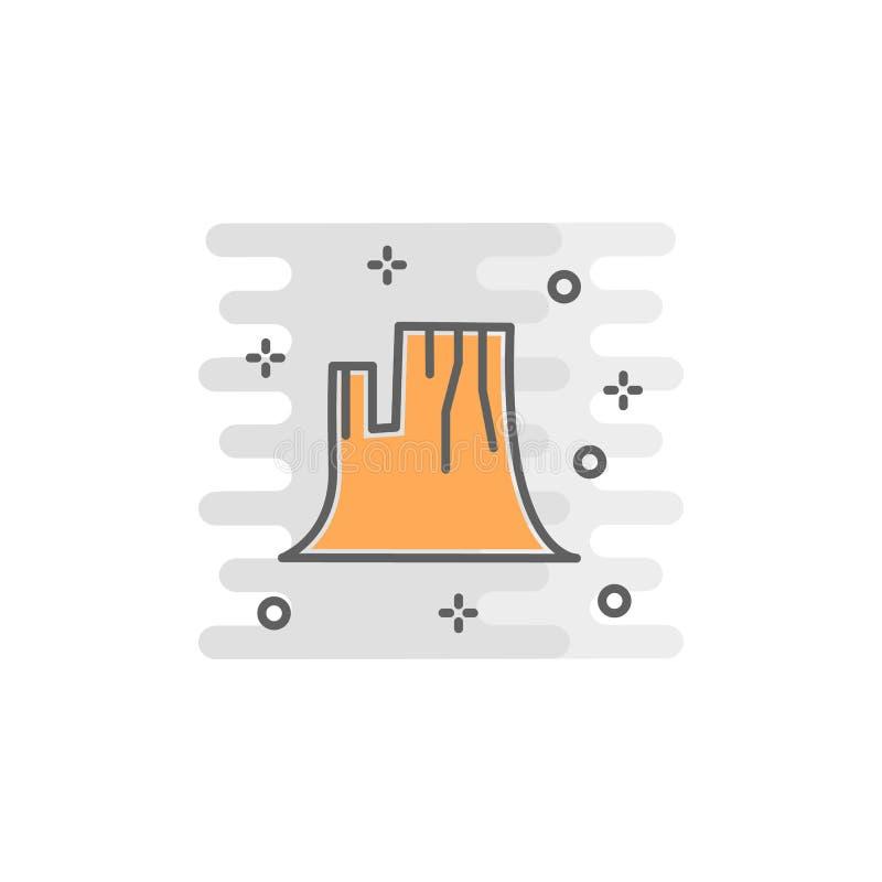 icono del color del barranco Elemento del ejemplo feliz del día de la acción de gracias Icono superior del diseño gráfico de la c libre illustration