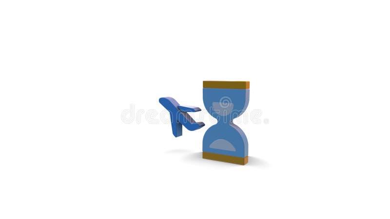 icono del color 3d del reloj de arena libre illustration