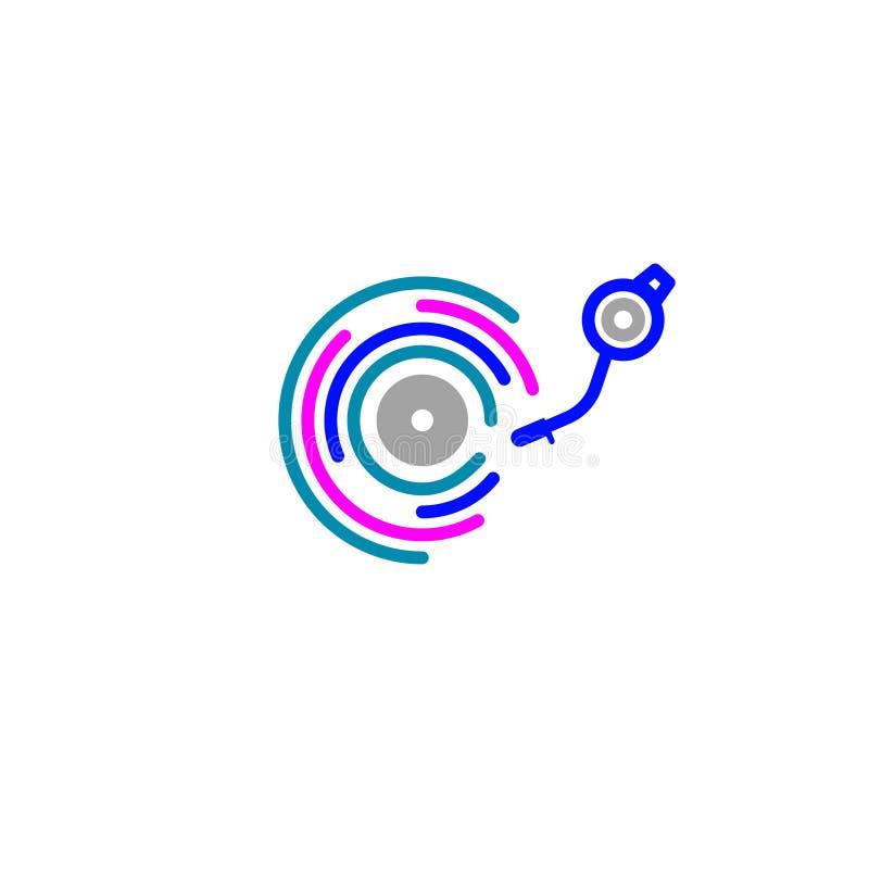 Icono del color de DJ libre illustration