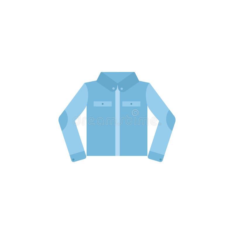 Icono del color de la chaqueta del dril de algodón Elemento del icono de la ropa del color para los apps móviles del concepto y d stock de ilustración